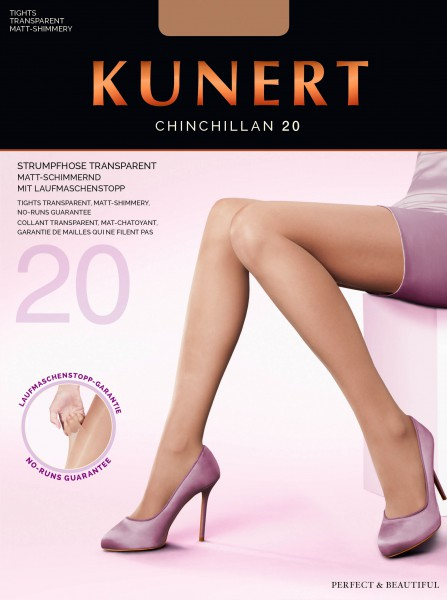Kunert - Transparent tights with RUN STOP by KUNERT Chinchillan 20