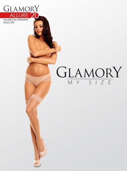 Glamory Allure 20 - Elegant gloss plus size hold ups