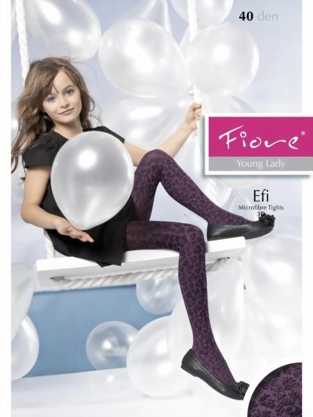 21be07de377a4 Fiore - Elegant childrens tights with flower pattern Efi 40 denier ✅