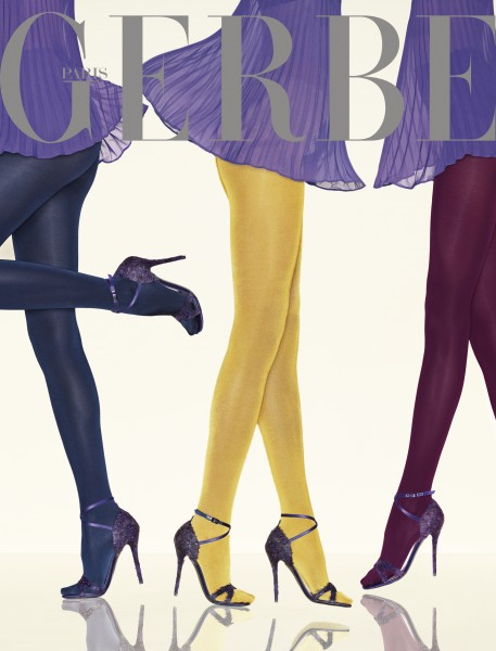 Gerbe - Exclusive opaque tights with silk velvet appearance Nymphea