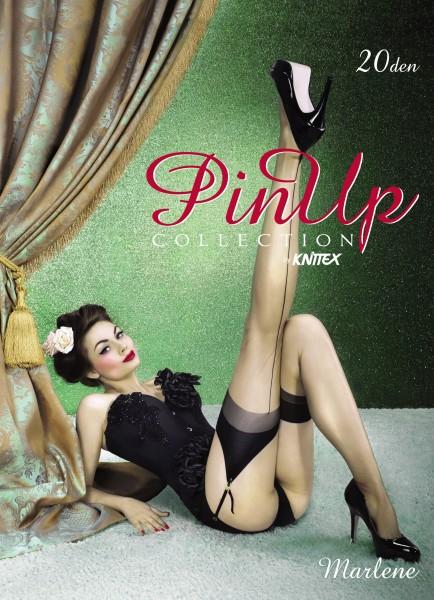 Knittex - Sensual nylon back seam stockings Marlene 20 denier