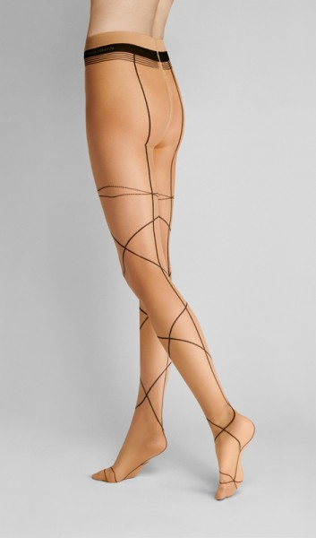 Hudson - Sheer tights with sophisticated curved lines