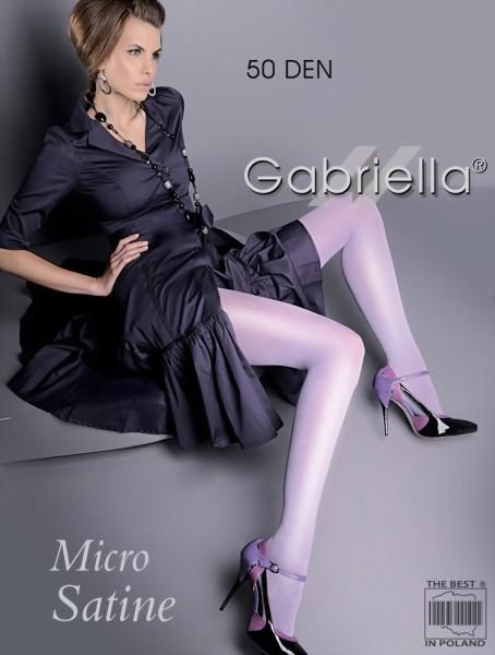 Gabriella - Opaque wet look tights Micro Satin 50 den