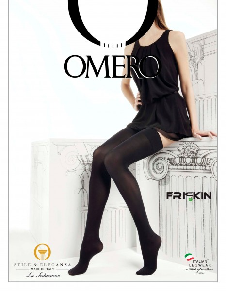 Omero Libera 50 denier opaque hold ups with soft, flat top