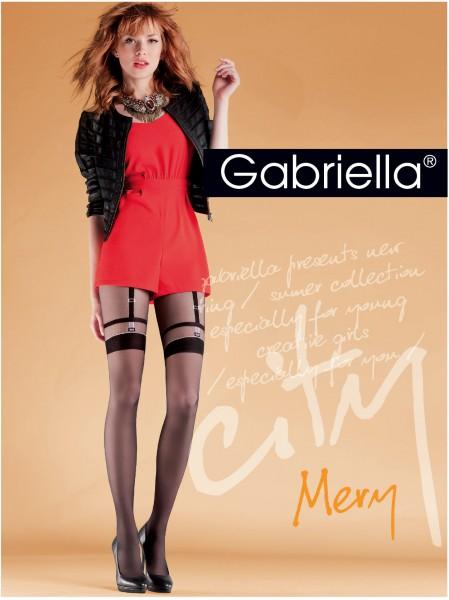 Gabriella - Stylish mock suspender tights Mery