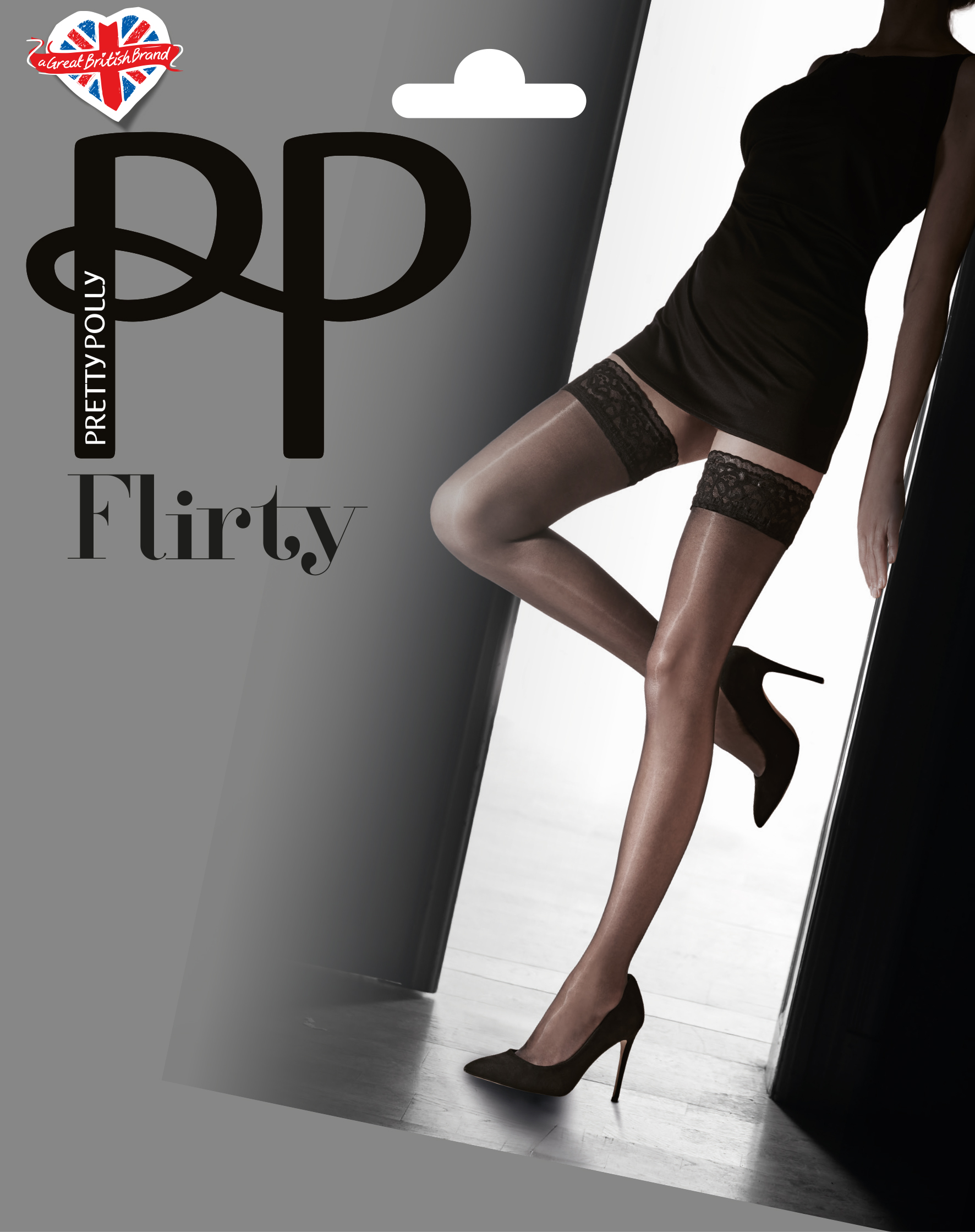Pretty Polly Lace Top Hold Ups