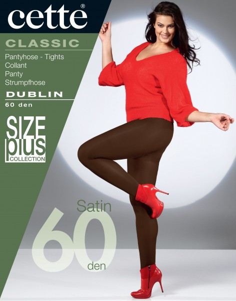 Cette Size Plus Collection - 60 denier opaque plus size tights Dublin