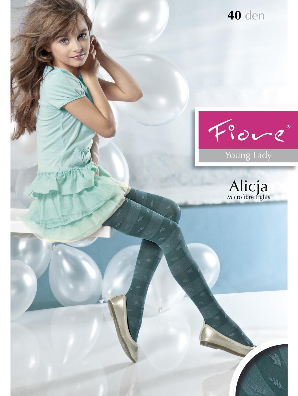 Fiore Trendy Childrens Tights With Stripes Alicja 40 Denier