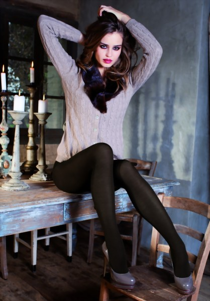 Trasparenze - Elegant warm winter tights with cashmere Georgia