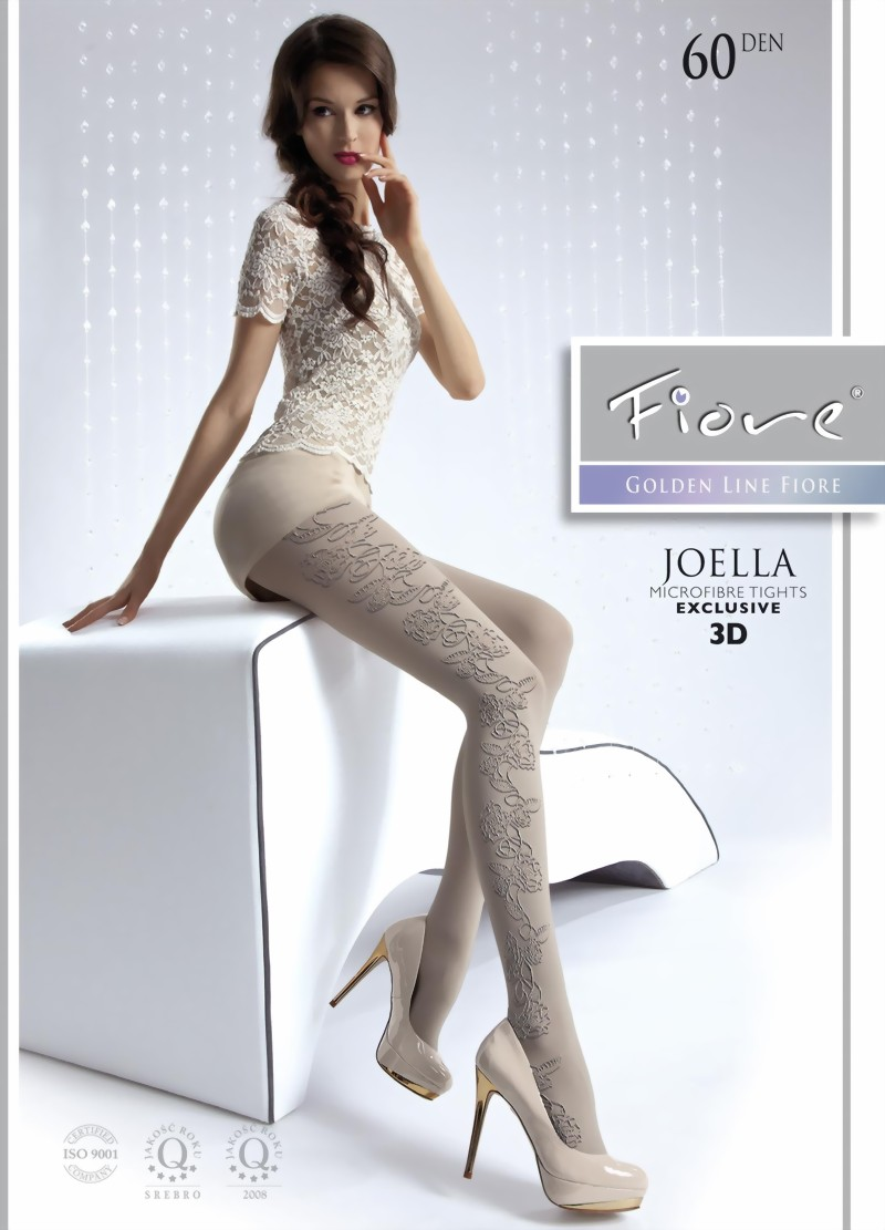 Fiore Opaque Floral Pattern Tights Joella 60 Den
