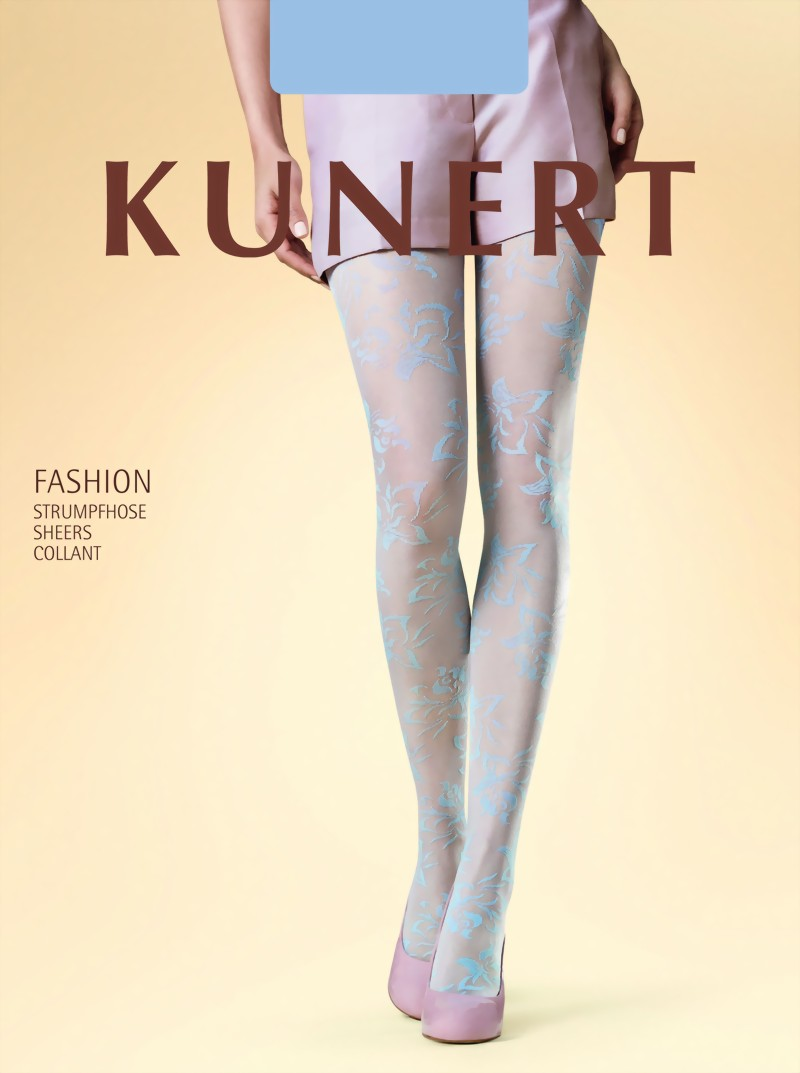 subtle floral pattern tights