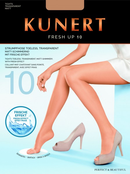 Kunert - Transparent open toe tights Fresh Up 10