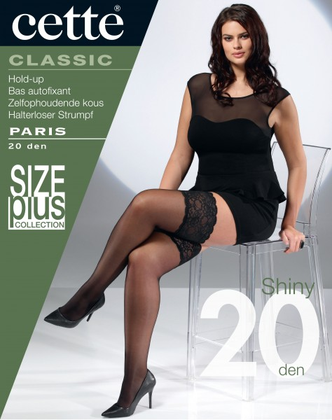 Cette Size Plus Collection - 20 denier sheer plus size hold ups Paris