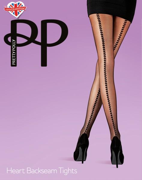 Pretty Polly - Heart Backseam Tights