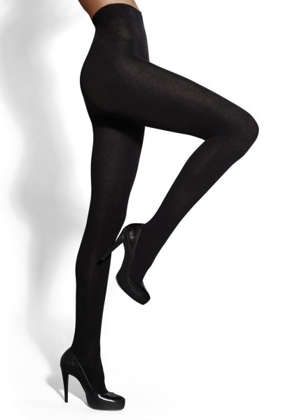 Marilyn - Opaque, warm tights with cotton and wool Arctica 140 den