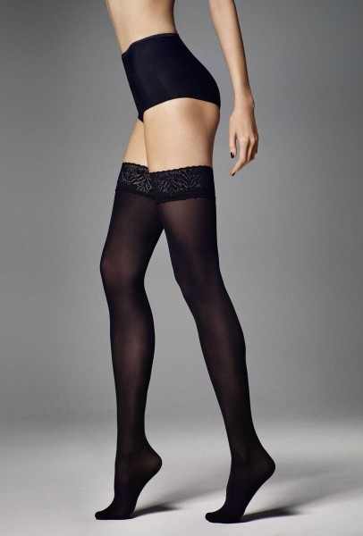 Veneziana Ar Fiona - 60 denier opaque hold ups with elegant lace top