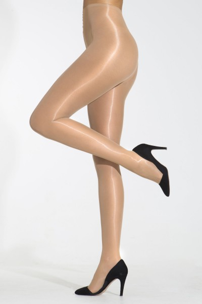 Cecilia de Rafael Eterno Super Lucido 10 - Super shiny, ultra sheer no waistband tights