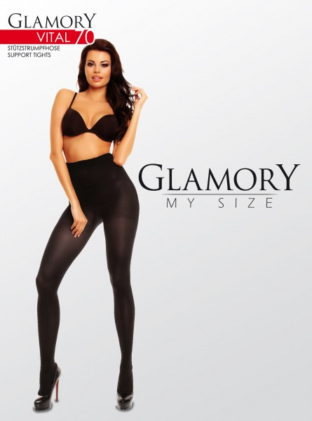 Glamory - Plus size support tights Vital 70 denier