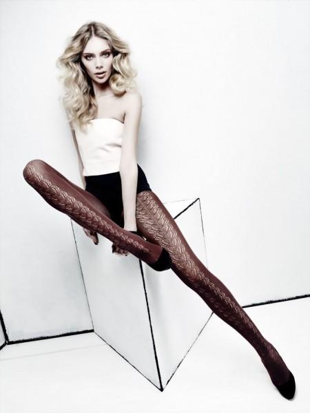 Omero - Stylish openwork pattern tights with cotton Mari
