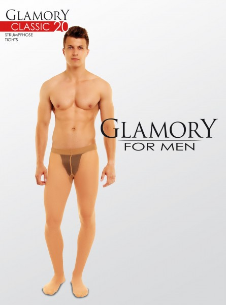 Glamory Classic - 20 denier sheer matt tights for men