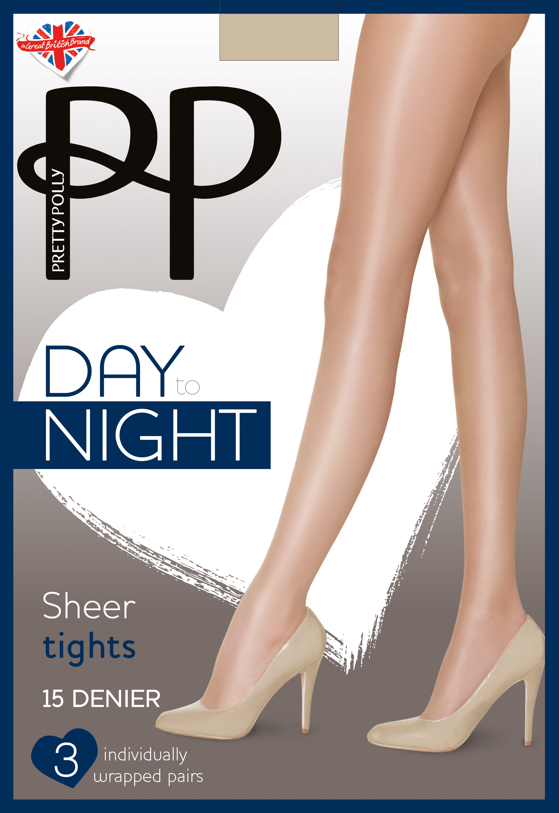 Pretty Polly Day to Night - 15 denier sheer tights - 3 pairs