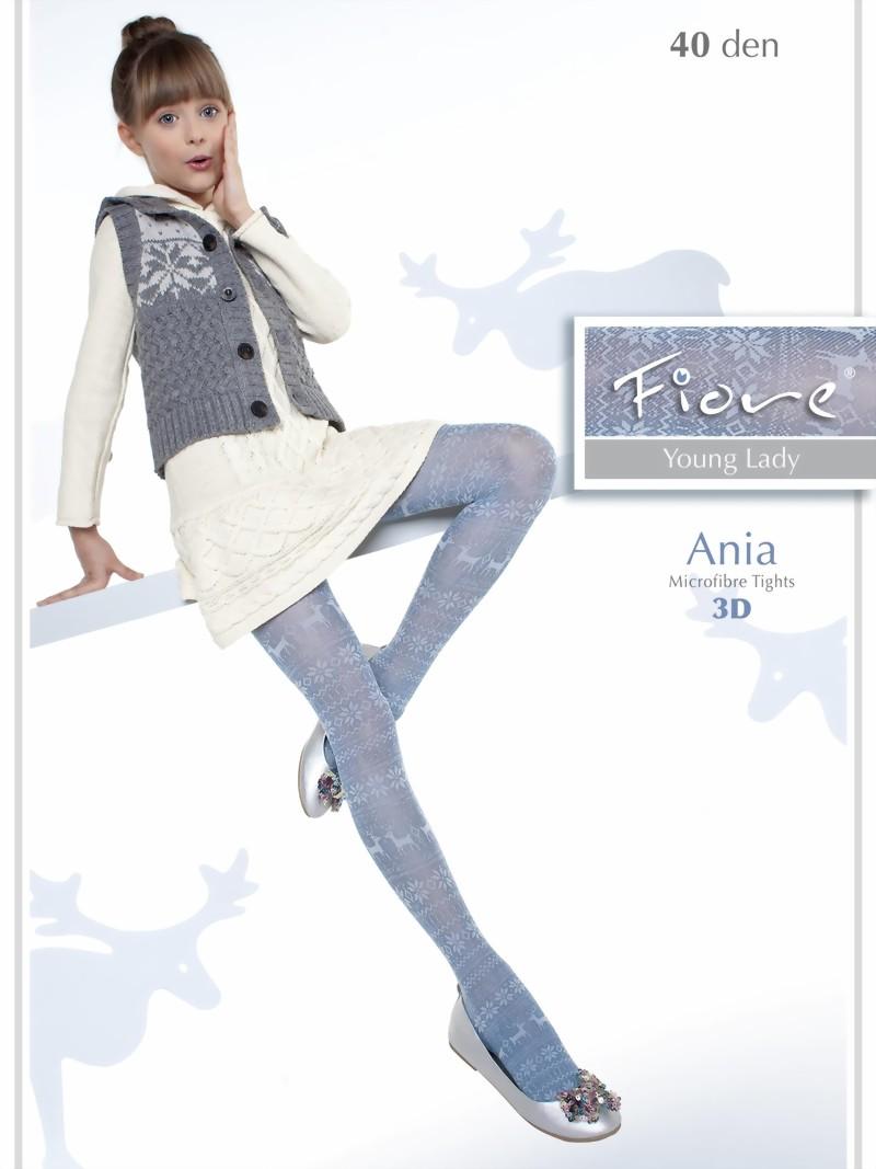 f19e72173a406 Fiore - Trendy childrens tights with norwegian pattern Ania 40 denier ✅ ;