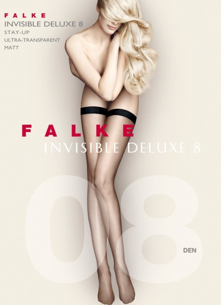 Falke Invisible Deluxe 8 - Ultra-transparent hold ups with flat, soft top