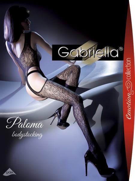 Gabriella - Sensuous floral pattern fishnet bodystocking Paloma