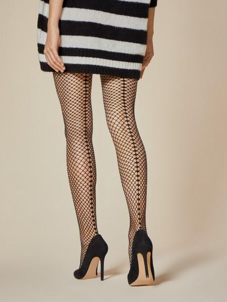Fiore Salire - Back seam fishnet tights