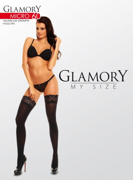 Glamory - Opaque plus size hold ups Micro 60 denier