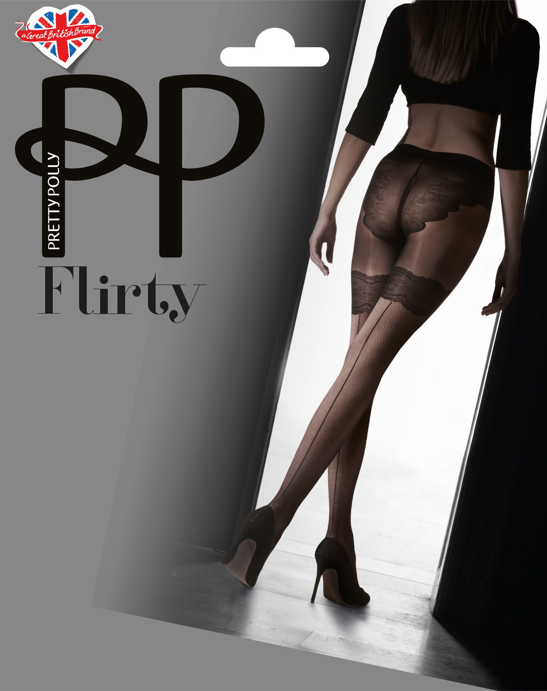 Pretty Polly - Backseam tights with body detail